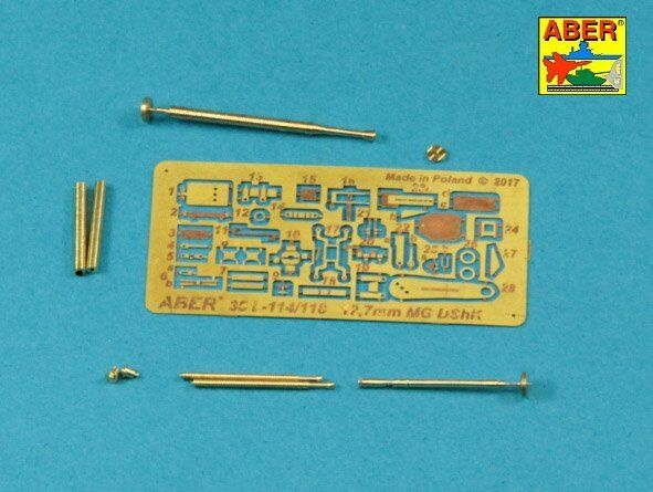 135 ABER 35L-114 BARREL & PARTS for RUSSIAN 127mm HEAVY MG DShK WWII version