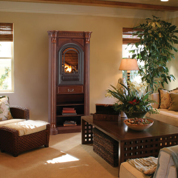 Vent Free Gas Fireplace - Hearth Sense - Tower Included - Propane 20000BTU