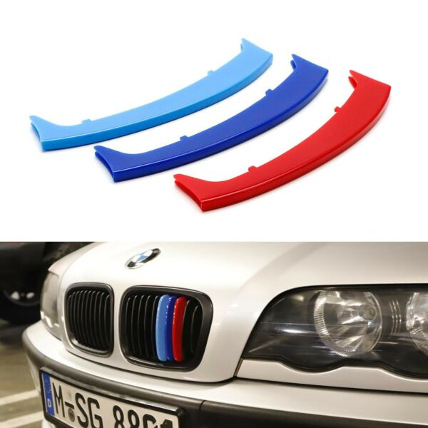 M-Colored Grille Insert Trims For 99-01 BMW E46 3-Series 4DR w 10-Beam Grill