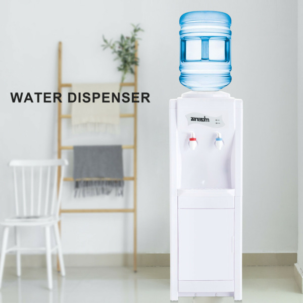 5 Gallon Electric Water Dispenser Top Loading Cooler Hot Cold HomeOffice White