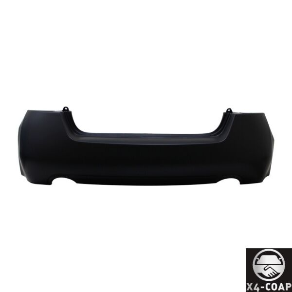 New Rear Bumper Cover For Nissan Altima BLACK SEDAN