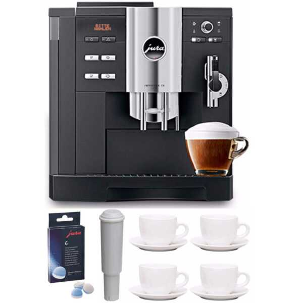 Jura Impressa S9 Classic One Touch Cappucino Espresso Coffee Machine Bundle