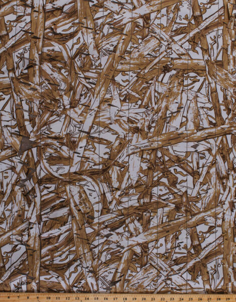 60quot; Duck Blind Snow Camouflage Camo Mesh Laser Cut Fabric by the Yard A509.10
