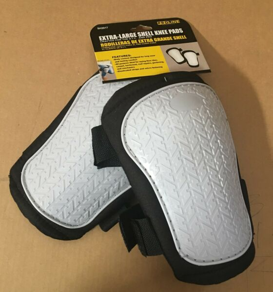 SH2017  Durable EXTRA-LARGE SHELL KNEE PADS w soft breathable inner padding$$%%