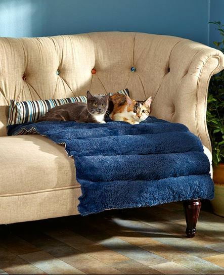 Large Portable Pet Bed 23quot;x36quot; Rolls Up for Travel Cat Dog Furniture Protector $24.99
