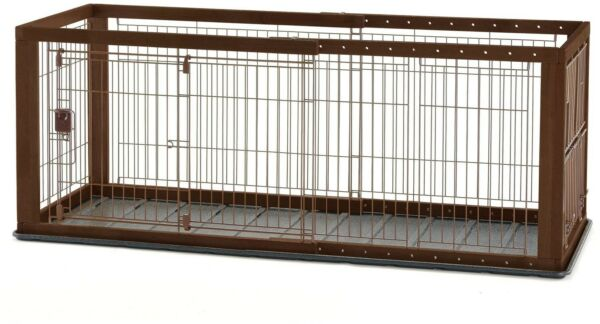 Richell Expandable Pet Crate Playpen House with Lift and Lock Door (Small)