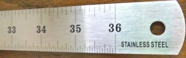 36 inch Stainless Steel Flexible Yardstick yard stick metal ruler