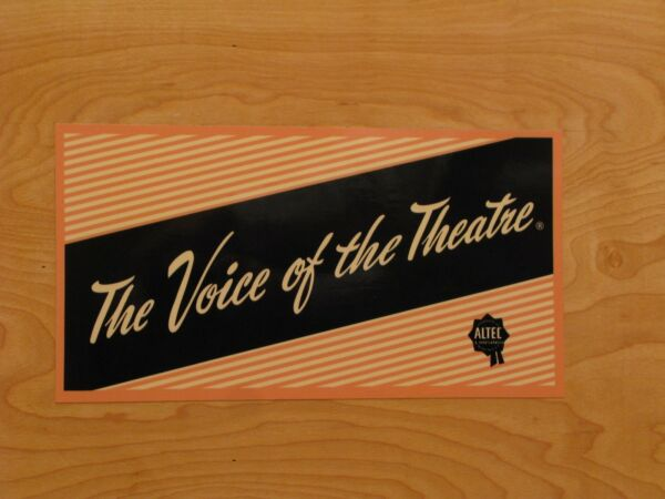 Altec Voice Of The Theater DECAL set of four label sticker A5 A7 speakers VOTT