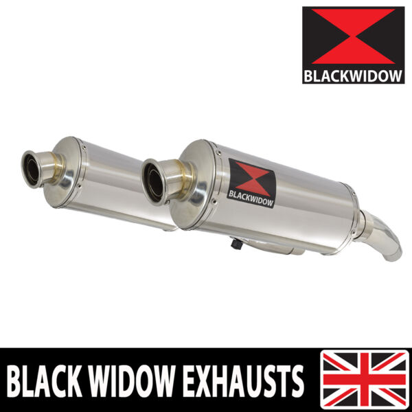 Kawasaki ZZR 600 D E ZZR 400 K N 4 2 Exhaust Silencers Oval Stainless 300SS