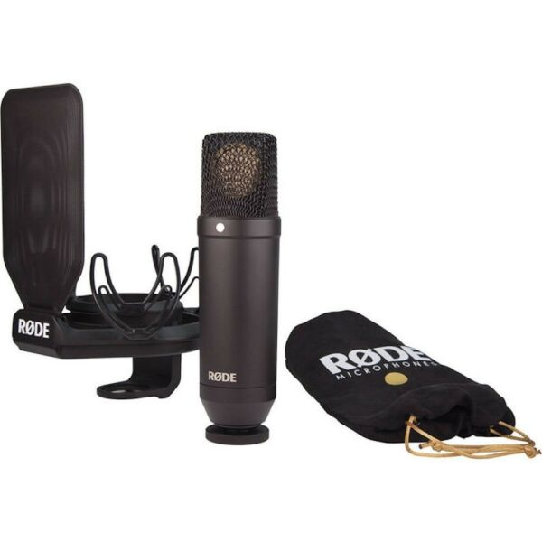 Rode NT1 Kit 1-Inch Cardioid Condenser Microphone with Shockmount