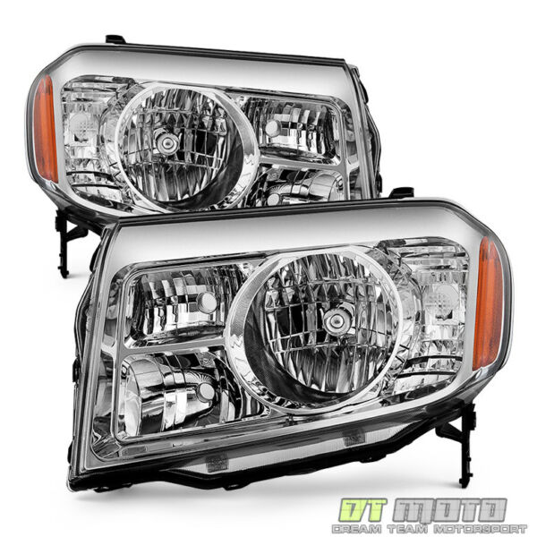 For 2009 2010 2011 Honda Pilot Headlights Headlamps Replacement 09 11 LeftRight