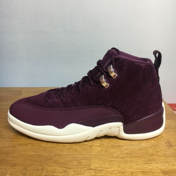 AIR JORDAN 12 XII RETRO 130690-617 BORDEAUX SAIL METALLIC SILVER DS SIZE: 11