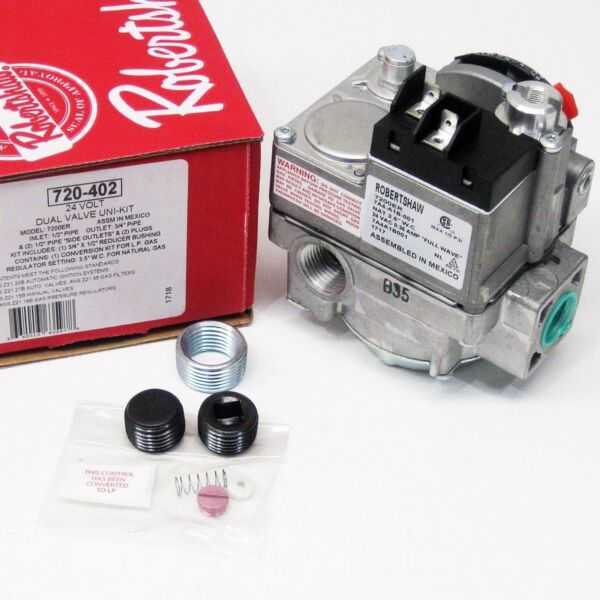 Robertshaw 720 402 Gas Heating Furnace Valve 24V 7200ER $77.06