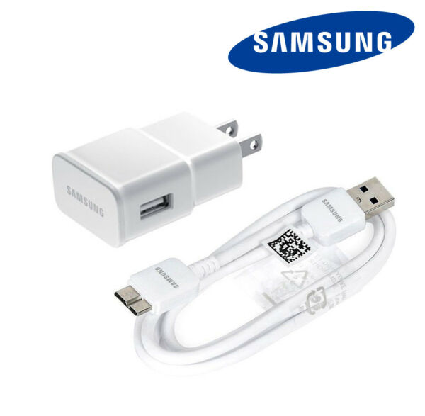 New Original Samsung USB Wall Charger Data Sync Cable OEM for Galaxy S5