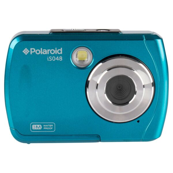 Brand New Sealed Polaroid Waterproof Digital Camera Teal 16MP IS048 Handheld