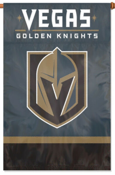 VEGAS GOLDEN KNIGHTS Official NHL Nylon Applique Premium WALL BANNER
