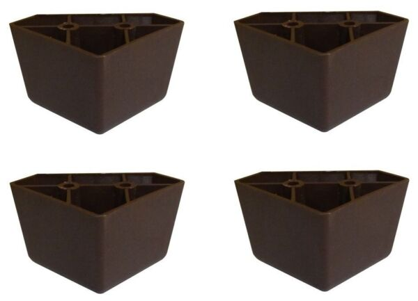 Set of 4 Universal Dark Brown Plastic Furniture Triangle Legs Sofa Couch Chair $8.99