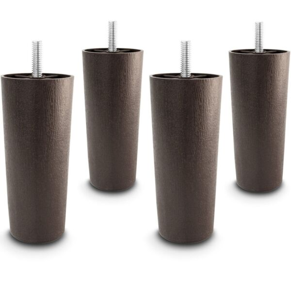 5quot; Universal Dark Brown Plastic Furniture Legs Sofa Couch Chair 5 16quot; Set of 4 $10.89
