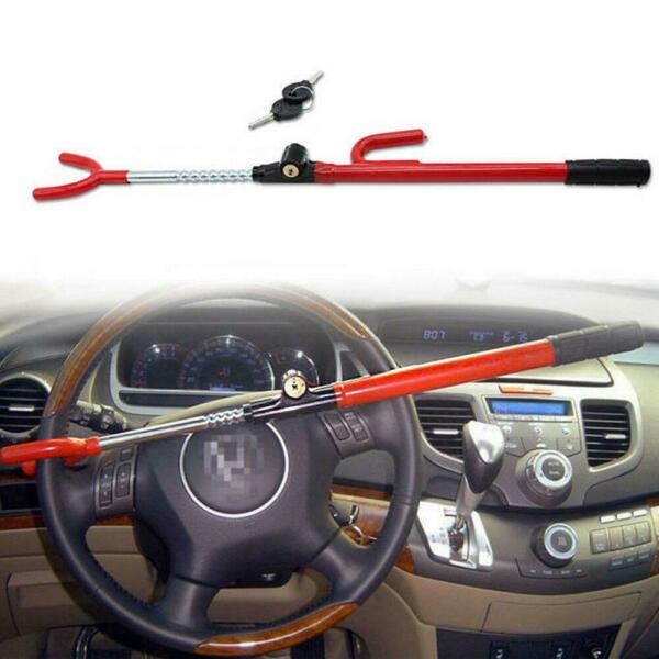 Heavy Duty Steering Wheel Lock Anti Theft Security System Car Truck SUV Auto Red