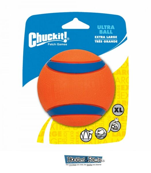 Chuckit Dog Fetch Floating Toy Ultra Ball XL 3.5 Inch Durable Rubber Floats