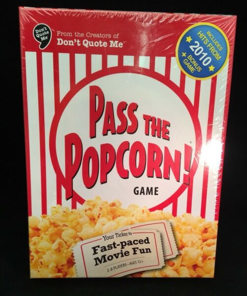 Pass The Popcorn! Game Factory Sealed Family Movie Fun Bonus Actor Card Game