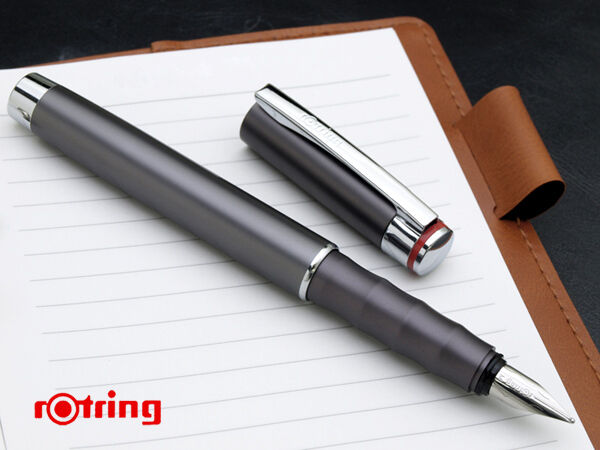 Rotring Fountain Pen Special Edition Esprit Telescopic Graphite New In Box *