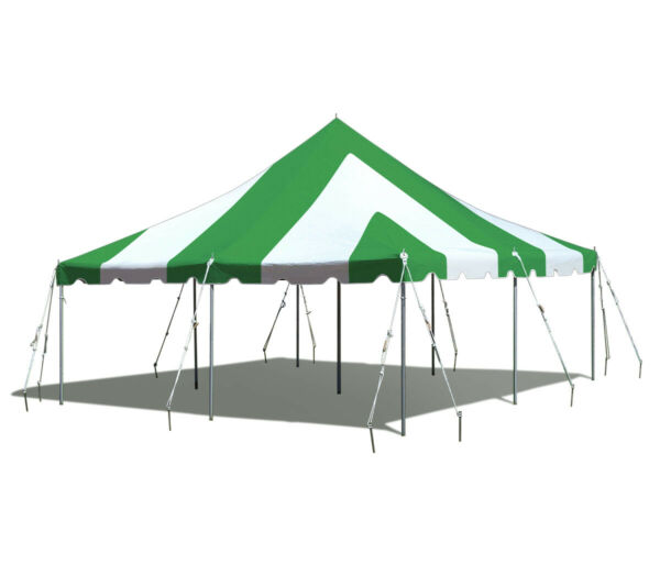 20x20' Green White Commercial Canopy Waterproof Wedding Party Premium Pole Tent