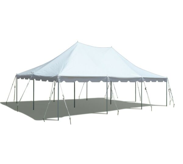 White 20x30' Premium Pole Tent Commercial Party Canopy Waterproof Blockout Vinyl