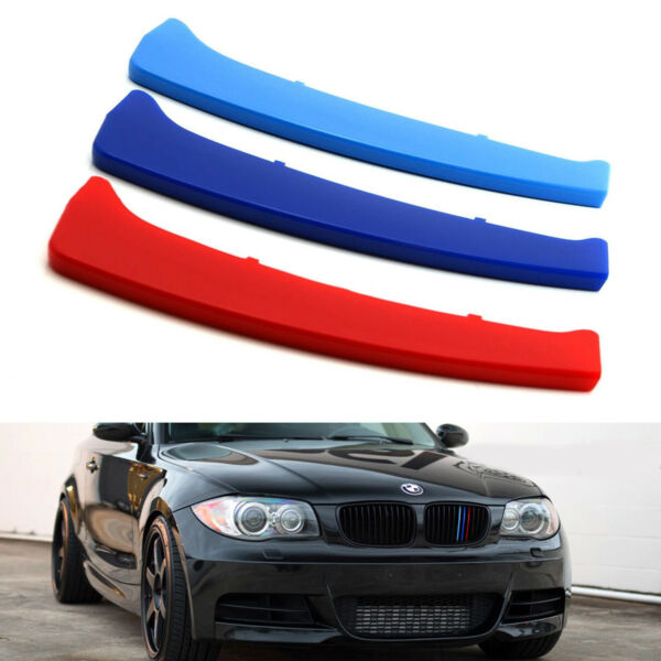 M-Color Grille Insert Trims For 08-13 BMW 1 Series w 12 Standard Grill Beams