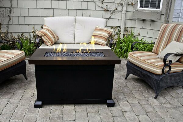 Outdoor Fire Pit Table Patio Deck Backyard Heater Fireplace Propane Furniture