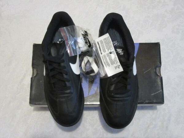 Nike SB Air Zoom FC Stand Up Black White Braclets 308173 013 Size 10.5 Sneakers
