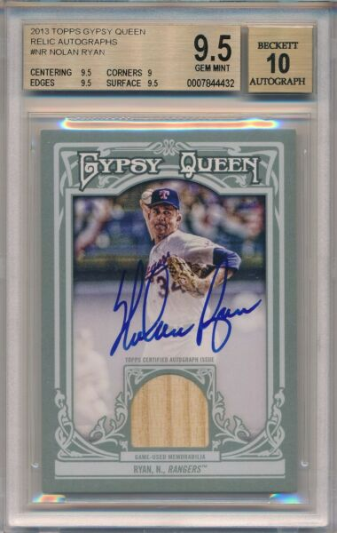 NOLAN RYAN 2013 Topps GYPSY QUEEN Relic AUTO 25 #NR BGS 9.5 Pop 1 None higher!!