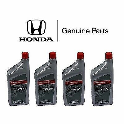 4x Genuine Honda Acura ATF DW-1 Automatic Transmission Oil Fluid Accord Civic