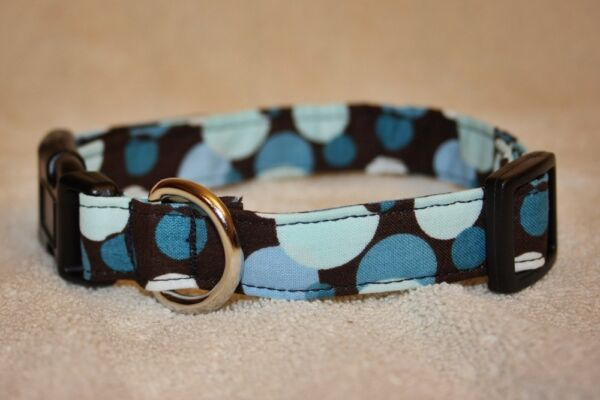 Spots Brown Blue Dots Dog Collars amp; Leashes $7.00