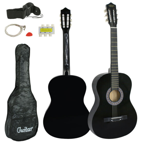 Black Wooden Acoustic Guitar 38