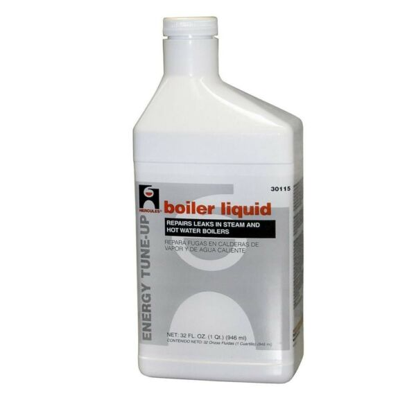 Boiler Liquid 1 Qt. Repair Cracks Sealer Leaks Odor-free Formula Steam Heater