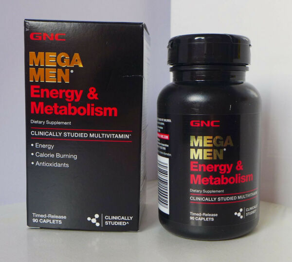 90 Caplets GNC MEGA MEN® ENERGY & METABOLISM Vitamins Supplements