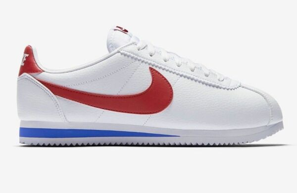 New Nike Men's Classic Cortez OG Leather Shoes (749571-154)  White//Red-Royal
