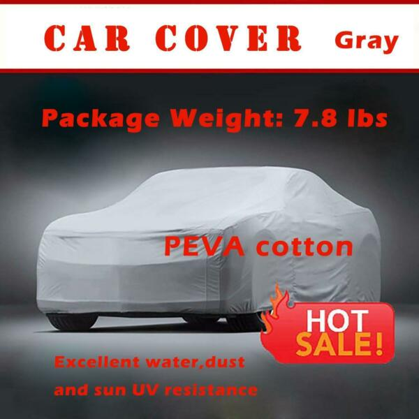 New 100 Layer Gray Car Cover 100% Waterproof UV Rain Heat Outdoor Protection D