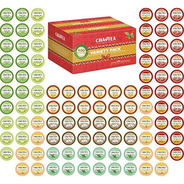 Cha4TEA Tea Samplers 100-Count K Cups Variety Pack For Keurig K-Cup Brewers