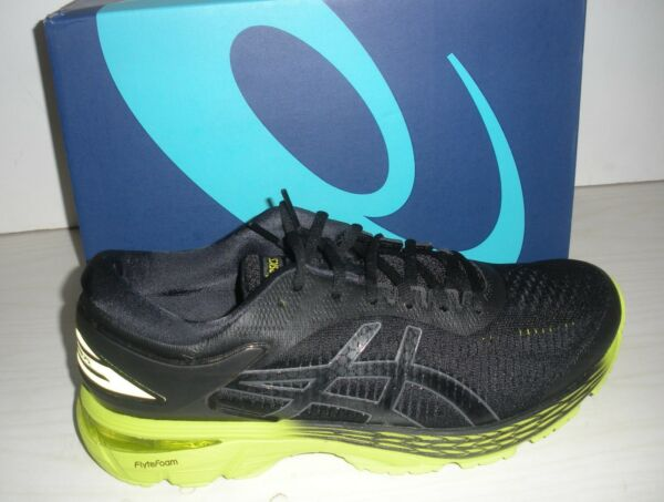 ASICS MENS GEL-KAYANO 25 RUNNING SNEAKERS-SHOES-1011A019-001- BLACK/ NEON LIME
