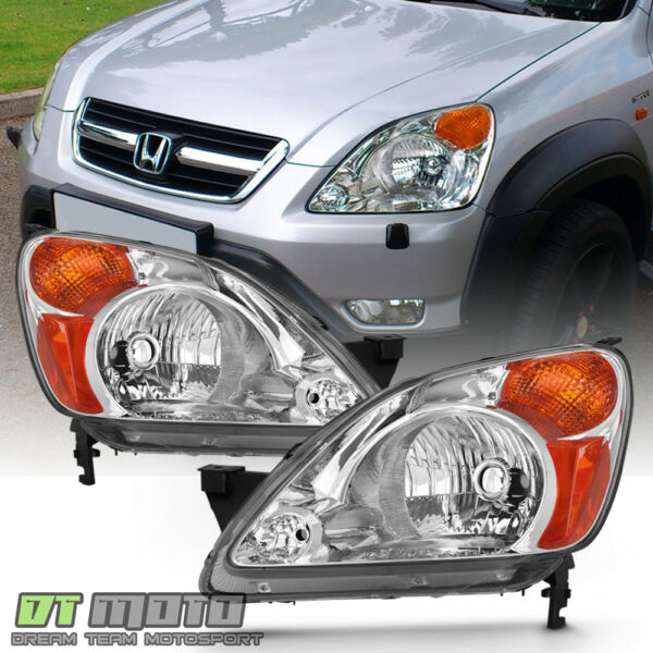 For 2002 2003 2004 Honda CRV C RV Headlights Headlamps Replacement LeftRight