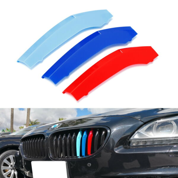 M-Color Grille Insert Trims For 18+ BMW G32 6 Series w9 Standard Grill Beams
