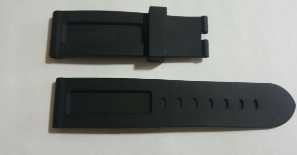Officine Panerai Watch 24mm Rubber Strap Made in Italy