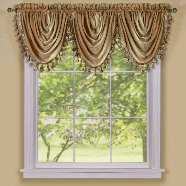 NEW Achim Home Furnishings Ombre Waterfall Valance, 39L x 40