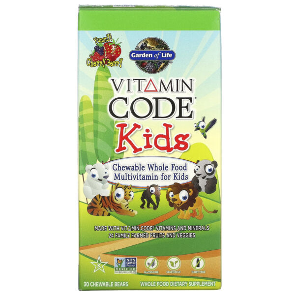 Garden of Life  Vitamin Code  Kids  Chewable Whole Food Multivitamin for Kids