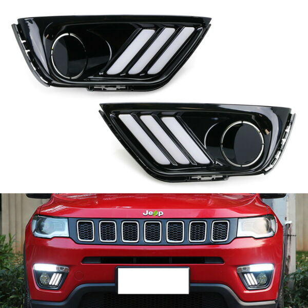 Switchback LED Daytime Lights w Sequential Turn Signal Lamps For 17-