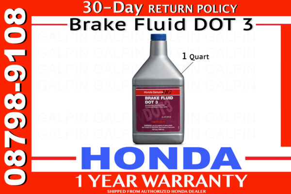 Genuine OEM Honda Brake Fluid Quart Size - 32 Ounces DOT 3 Ounce 08798-9108