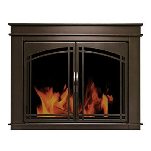 Pleasant Hearth Glass Fireplace Door Fenwick ORB Medium FN-5701 Mesh Screen