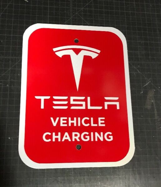 Tesla Charging Sign Wall Connector Home Mobile Charger Model 3 S X Super HPWC